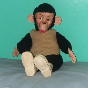 Vintage Mr. Bim Zip Zippy Plush Monkey